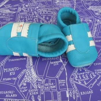 milchdealer leather baby shoes